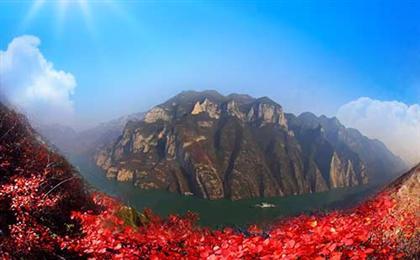 三峽往返四日陽光游[朝天門上船]重慶-宜昌三峽游,船去動車回