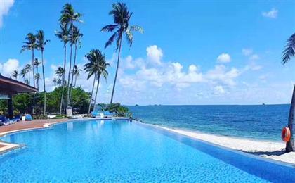 新加坡+民丹岛地中海俱乐部悠闲6天5晚游<0自费+2个店>(别漾新民)空中飞人+日落瑜伽+日间&夜间活动派对+法式海景晚餐,享有绵延2.5公里的私家海滩