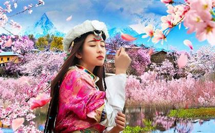 西藏布达拉宫+大昭寺+八廓街+鲁朗林海+雅鲁藏布大峡谷+巴松措+雅尼湿地+林芝桃花沟+羊卓雍措去卧回飞9日游至尊西藏