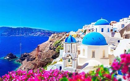 希腊一地圣托里尼岛+米克诺斯岛8日半自由行深度游浪漫双岛游,一价全含