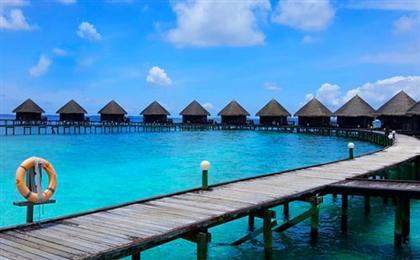 重庆直飞马尔代夫7天5晚自由行【蓝色美人蕉】<2沙2水+免费夜钓>五星岛屿,一价全含+快艇上岛