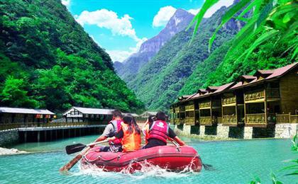 重庆佛影峡漂流-探险森林溯溪谷品质一日游激情漂流