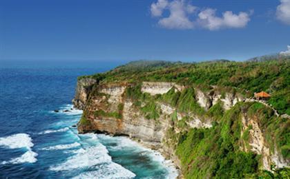 裸奔巴厘岛<出海蓝梦岛+贝尼达岛>双飞6日游(巴厘物语)双岛出海+网红瀑布+乌布网红秋千鸟巢+金巴兰海滩