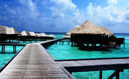 马尔代夫【港丽岛】7天5晚自由行<一价全含+2晚沙屋别墅+2晚水屋别墅>最美的时光