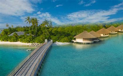 马尔代夫【瑞僖敦迪鼓拉岛】7天5晚自由行<一价全含+2沙2水别墅>六星奢华岛屿,亲子出游,4人入住