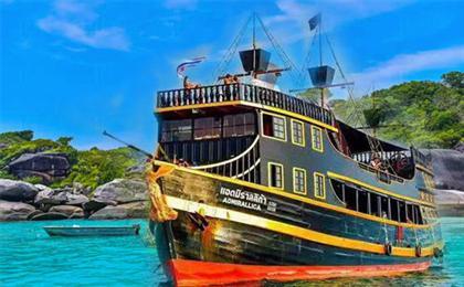 普吉岛-斯米兰威斯汀海景6日游<全程0自费+3个店>(唯美品鉴)斯米兰群岛一日游,海盗船出海蜜月神木岛+月亮香蕉湾,全程五星酒店,2个半天自由活动