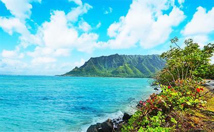 美国夏威夷·欧胡岛<小环岛精华游+珍珠港+市区游览+威基基海滩>8天半自由行乐活夏威夷系列