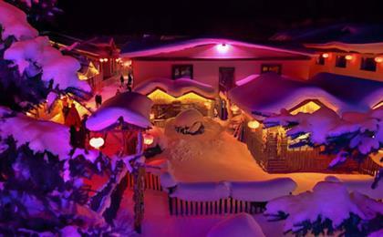 冰城哈尔滨-赫哲族冬捕-亚布力激情滑雪-最美雪乡双飞5日游风花雪夜